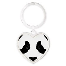 6x6-for-wt_panda Heart Keychain