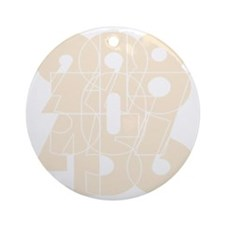 rb_nvy_cnumber Round Ornament