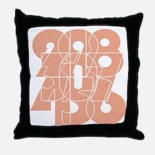 wt_cnumber Throw Pillow