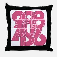 lmn_cnumber Throw Pillow