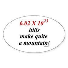 Mole hill Oval Decal