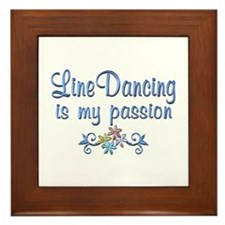 Line Dancing Passion Framed Tile