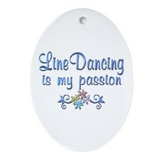 Line Dancing Passion Ornament (Oval)