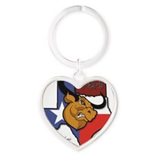 In Place Heart Keychain