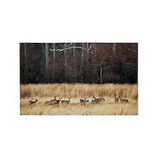Winter Deer Herd Area Rug