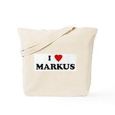 I Love MARKUS Tote Bag