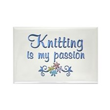 Knitting Passion Rectangle Magnet