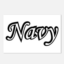 Black and White Navy Postcards (Package of 8)