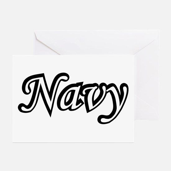 Black and White Navy Greeting Cards (Pk of 10