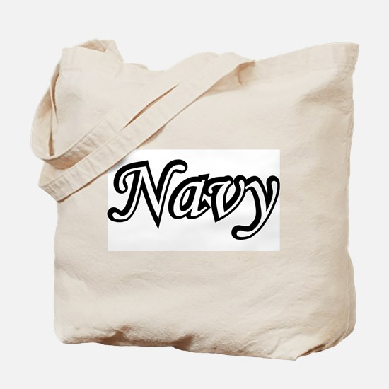 Black and White Navy  Tote Bag