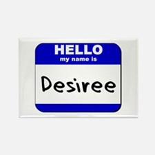 hello my name is desiree Rectangle Magnet
