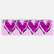 Spay, Neuter, Rescue, & Adopt Pink Bumper Bumper Bumper Sticker