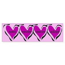 Spay, Neuter, Rescue, & Adopt Pink Bumper Bumper Sticker