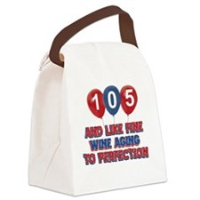 105th year old birthday designs Canvas Lunch Bag