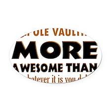 pole vaulter designs Oval Car Magnet
