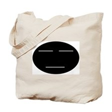 Straight face Tote Bag