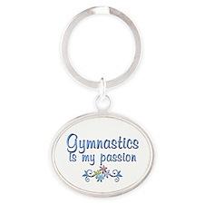 Gymnastics Passion Oval Keychain