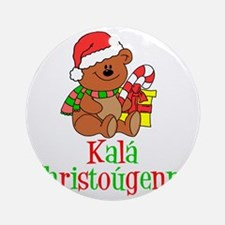 Kala Christougenna Baby Christmas Round Ornament