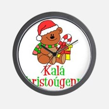Kala Christougenna Baby Christmas Wall Clock