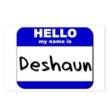 hello my name is deshaun  Postcards (Package of 8)