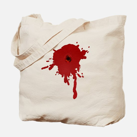 Bullet Hole With Blood Tote Bag