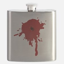 Bullet Hole With Blood Flask