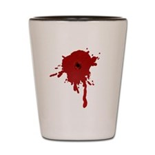 Bullet Hole With Blood Shot Glass