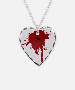 Bullet Hole With Blood Necklace