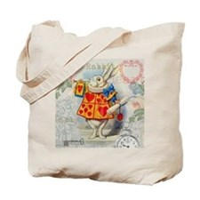 White Rabbit of Hearts Tote Bag