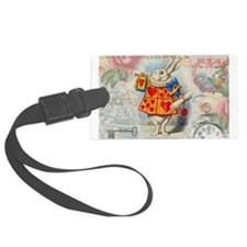White Rabbit of Hearts Luggage Tag