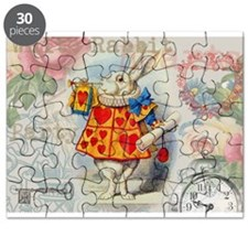 White Rabbit of Hearts Puzzle