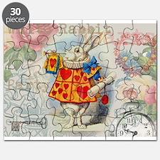 White Rabbit of Hearts Puzzle