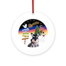 Xsigns-Schnauzer Pup Ornament (round)