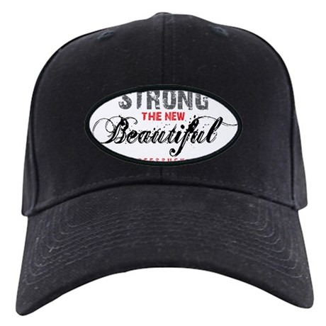 STRONG THE NEW BEAUTIFUL - WHITE Black Cap