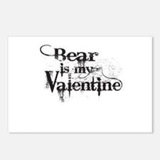 Bear is my Valentine Postcards (Package of 8)