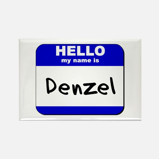 hello my name is denzel Rectangle Magnet