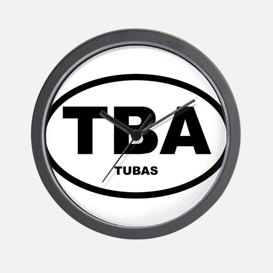 Tuba Oval Shirts and Gifts Wall Clock