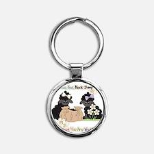 Baa Baa Black Sheep  Round Keychain