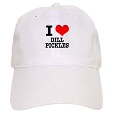 I Heart (Love) Dill Pickles Baseball Cap