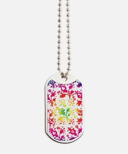 Floral mix Dog Tags