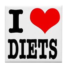 I Heart (Love) Diets Tile Coaster