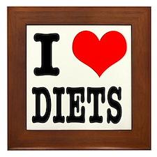 I Heart (Love) Diets Framed Tile