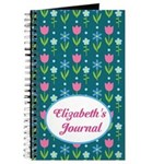 Flowered Tulip Personalized Journal