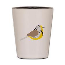 Meadowlark Bird Shot Glass