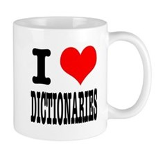 I Heart (Love) Dictionaries Mug