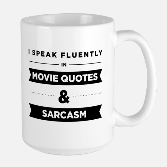 Movie Quotes And Sarcasm Large Mug