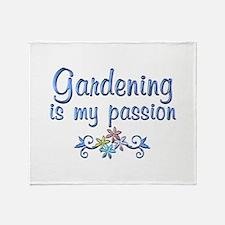 Gardening Passion Throw Blanket