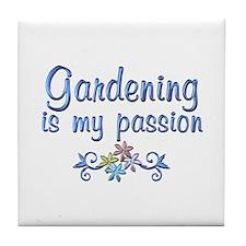 Gardening Passion Tile Coaster