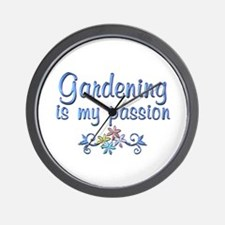 Gardening Passion Wall Clock