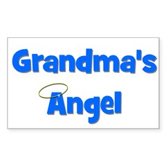 Grandma's Angel - Blue Rectangle Decal
